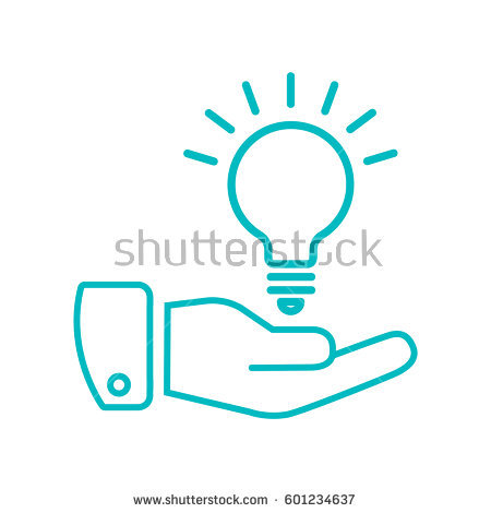 """This image of a hand holding up a lightbulb indicates an """"aside"""" topic for this activity."""